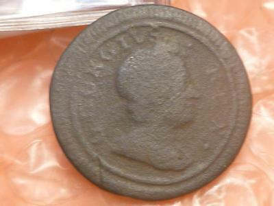 1719 Charles I Colonial  Farthing Scarce #5