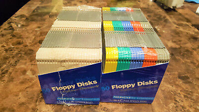 "IBM formatted 2HD  3.5"" two sealed packs of 50 high density floppy disks."