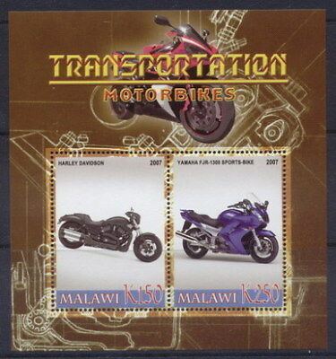 Motorcycles on Stamps -  Sheet of 2  - M1188