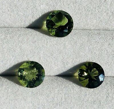Genuine Natural Moldavite Tektite Gemstone Round Cut 8 mm (7.8 - 8.1)