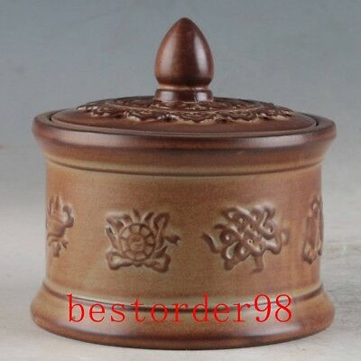 Chinese Yixing Sand-fired(ZiSha) Hand Carved Incense Burner ZJ320