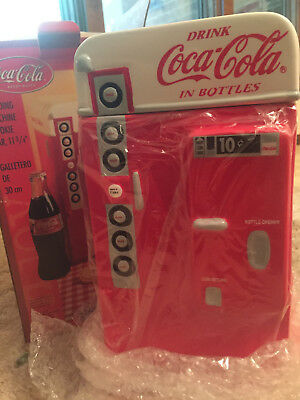 Coca Cola Vending Machine Cookie Jar Canister Vintage New in Box