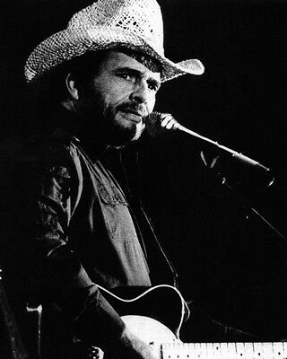 American Singer MERLE HAGGARD Glossy 8x10 Photo Country Music Print Poster