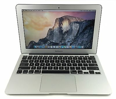 "Apple MacBook Air 11"" Intel i5 4250U 1.3Ghz 4Gb Ram 128GB SSD OS X Sierra #B"