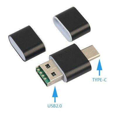 Mini OTG Type C To USB 2.0 Micro TF Card Reader Adapter For Android Phone Black