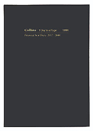 2018 2019 Collins A5 Day to A Page DTP Financial Year Diary Hardcover 18M4 BLACK
