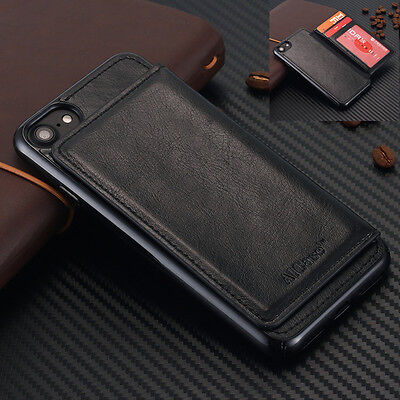 meet fec5e 833d9 IPHONE 8 7 Plus Luxury Genuine Leather Wallet Case Ultra-thin Card Holder  Cover