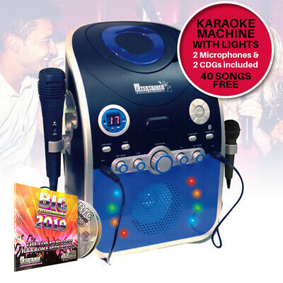 Mr Entertainer CDG Karaoke Machine KAR120 With Bluetooth & Flashing LED Lights