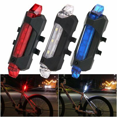 4 Mode LED USB Rechargeable Mountain Road Bicycle Bike Rear Tail Light Back Lamp
