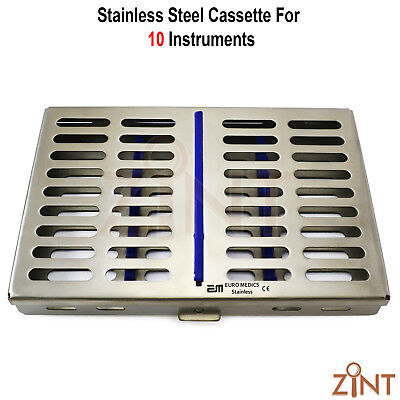 10 Pieces Stainless Steel Cassette Tray Sterilization Surgical Laboratory Tools