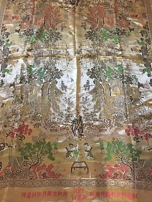 Vintage Chinese Silk Painting Fabric