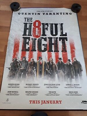 The Hateful Eight cinema one 1 sheet  Poster full size Quentin Tarantino