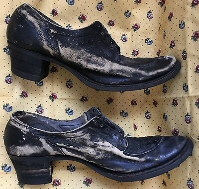 antique VITALITY VICTORIAN semi Pointed Toe LACE UP LEATHER SHOES GREAT Display