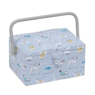 Floral HGTLR\453 Rectangle Twin Lid Hobbygift Sewing Box Blossom