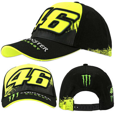45a53e40c35 Valentino Rossi Vr46 Black Yellow Monster Energy Replica Baseball Snap Back  Cap