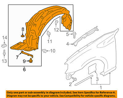 scion toyota oem 13 16 fr s front fender liner splash shield left Fender Stratocaster Schematic Diagram scion toyota oem 13 16 fr s front fender liner splash shield left