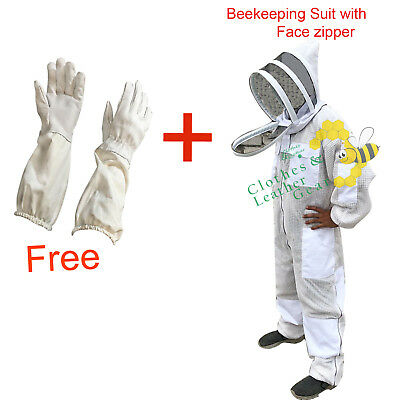 Bee Clothing 3 Layer beekeeping full suit ventilated Fencing Veil Brass Zip-3XL