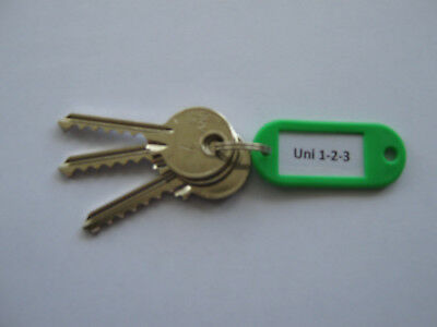 Universal 3 Key Set Cut to Code Locksmith Lock Sport Tools