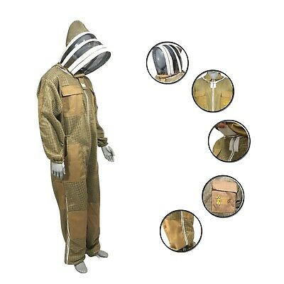 Ultra Ventilated 3 Layer Breeze Mesh Beekeeping Overall Bee Full Suit Size - Xl