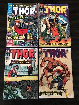 Thor #127 130 135 Annual #2 Lot Of 4 Marvel Comics Gd/vg