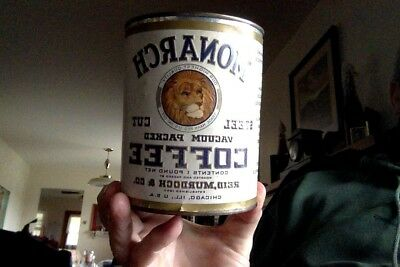 Monarch Coffe 1Lb Tin Can Sealed NO DENTS or TEARS!