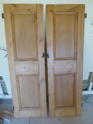 Pair of Old Pine Cupboard Doors possibly Victorian?