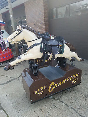 Vintage Coin Operated CHAMPION Horse Kiddie Ride