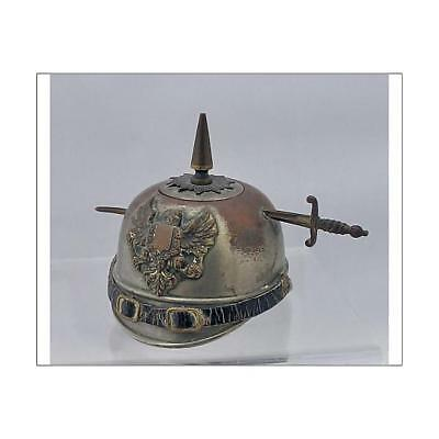 """10""""x8"""" (25x20cm) Print WWI inkwell in the form of a German soldie..."""