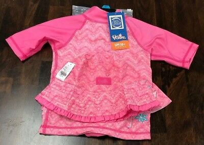 Nwt Uv Skinz Little Girl 3 Piece Swim Set - Pink - Size 4T