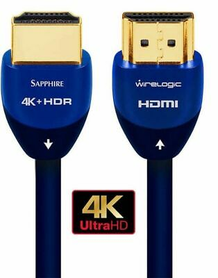 HDR10+ HDCP 2.2 Pacroban Ultra Slim HDMI 2.0b Cable 4K Ultra HD 12ft - 2pack