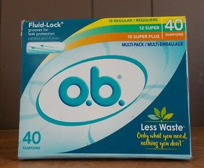 o.b. Fluid-Lock Multi-Pack Tampons Multi Pack 40 Count
