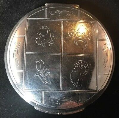 Georg Jensen Sterling Silver Compact 231A Large 3 3/4 Inch Dia Denmark