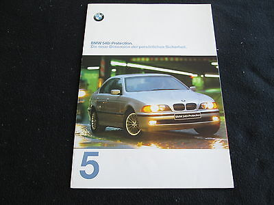 1997 1998 BMW 5 Series German PROTECTION Brochure 540i Catalog 540 i Security
