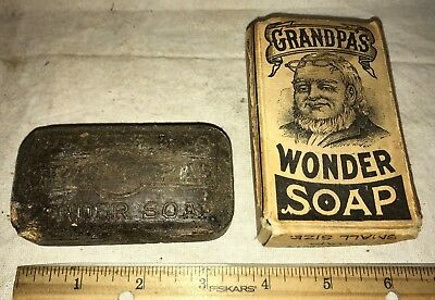 Antique Grandpa's Wonder Soap Bar Vintage Hand Cleaner Beaver Co Dayton Ohio Old
