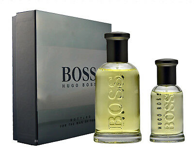 HUGO BOSS BOTTLED 100ML EDT Eau de Toilette Spray & 30ML Eau de Toilette Spray
