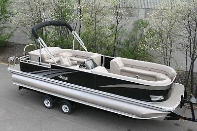 2685 Tmltz Tritoon  pontoon boat with high performance tubes