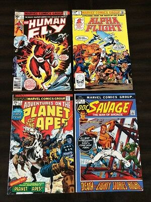 Human Fly Alpha Flight The Planet Of The Apes Doc Savage #1 Lot Of 4 Vf/nm