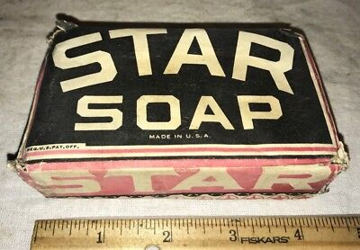 Antique Star Soap Vintage Bar Hand Cleaner Original Paper Label Pack Package Old