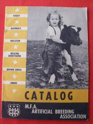 1940's M.F.A. Artificial Breeding Catalog- USED