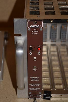 Ortec Model 495 Power Supply Nim Bin Plug In (Tp69)