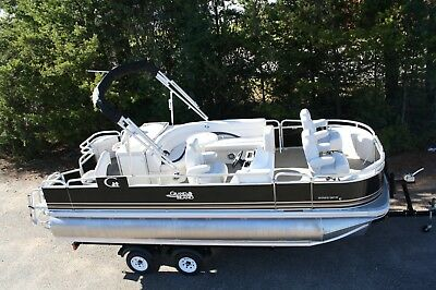Tritoon- New 20  fish and fun Grand Island pontoon boat-hpp tubes