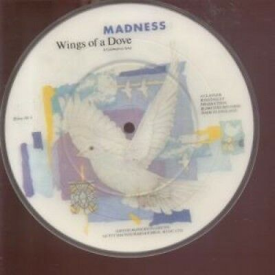 "MADNESS Wings Of A Dove 7"" VINYL UK Stiff Limited Edition Pic Disc B/W Behind"