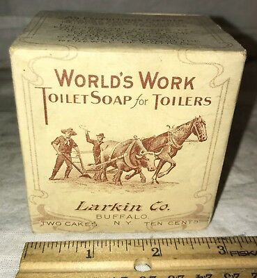 Antique Worlds Work Hand Soap Horse Ox Plow Train Lady Graphics 2 Bars Cleaner