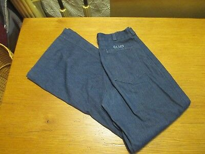 Sea Ease Vtg Military Navy Blue Jeans Bell Bottoms High Waisted sz 4/6 28x11x31