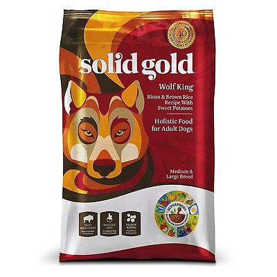 Solid Gold Large Breed Dry Dog Food Wolf King with Real Bison & Brown Rice 24 lb