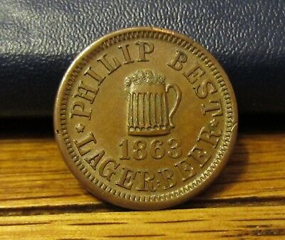 Civil War Store Card, Wisconsin, Philip Best, Empire Brewery, WI-510-C-1a