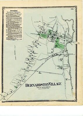 1871 Beers Map of Bernardston, from Atlas of Franklin Cty, Mass, w/family names