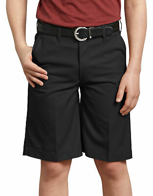 Dickies Boys' FlexWaist¨ Flat Front Shorts, Black Size 12