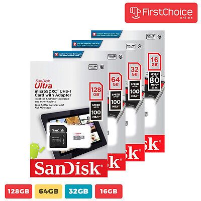 Sandisk 16GB 32GB 64GB Micro SD Class 10 TF Flash SDHC Memory Card Adapter
