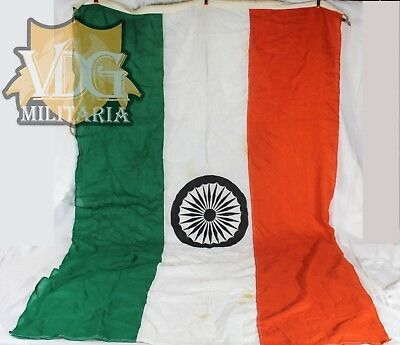 "Vintage/Antique Large India Indian Maritime/Naval Flag-46""x68"" Inches"